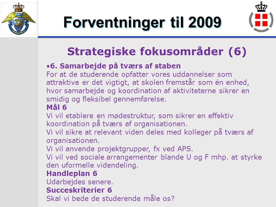 Strategiske fokusområder (6)