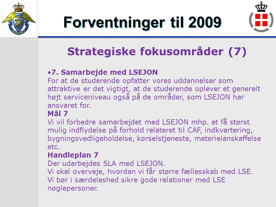 Strategiske fokusområder (7)