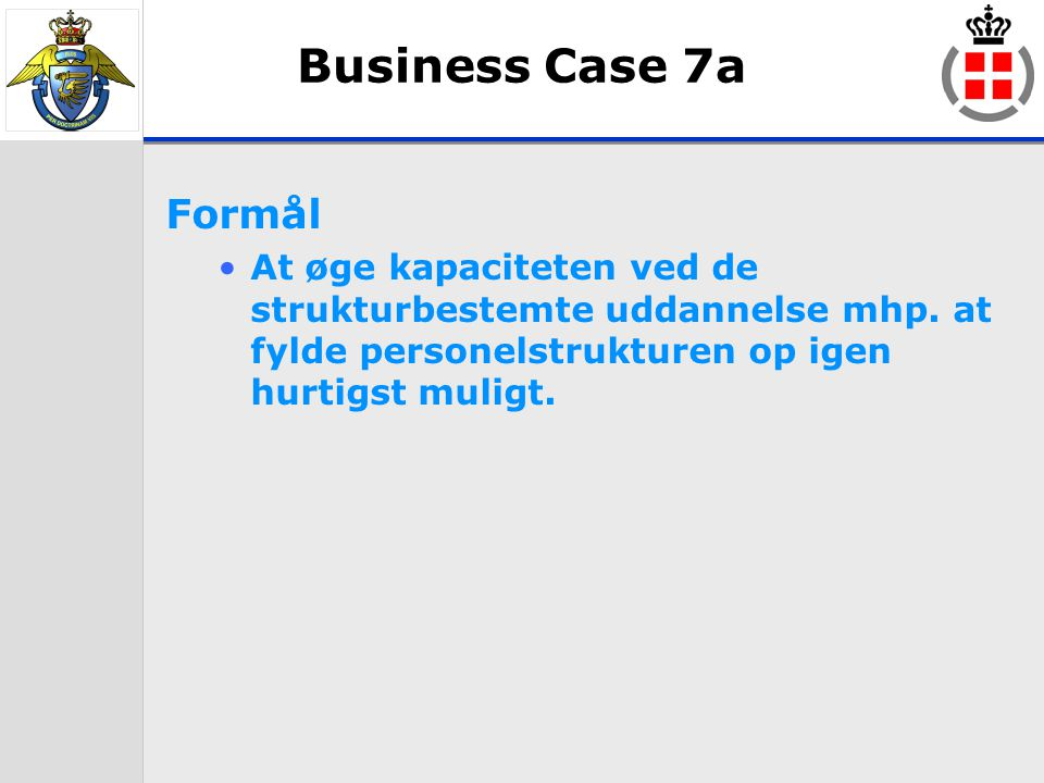 03-04-2017 Business Case 7a. Formål.