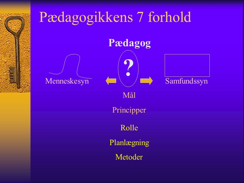 Pædagogikkens 7 forhold