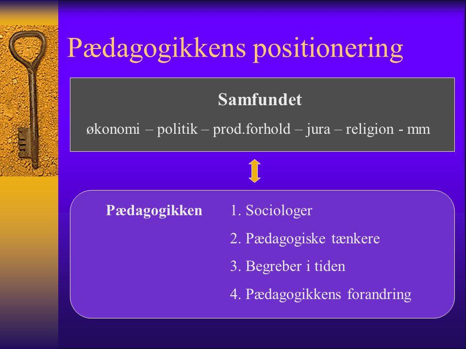 Pædagogikkens positionering