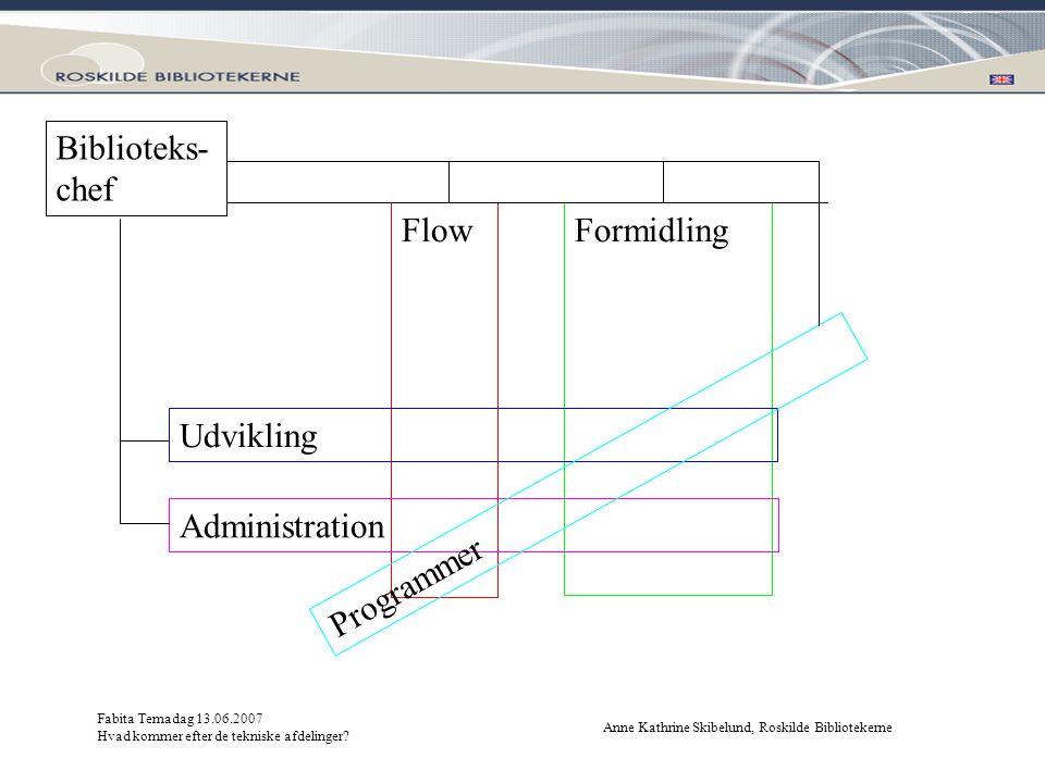 Biblioteks-chef Flow Formidling Udvikling Programmer Administration