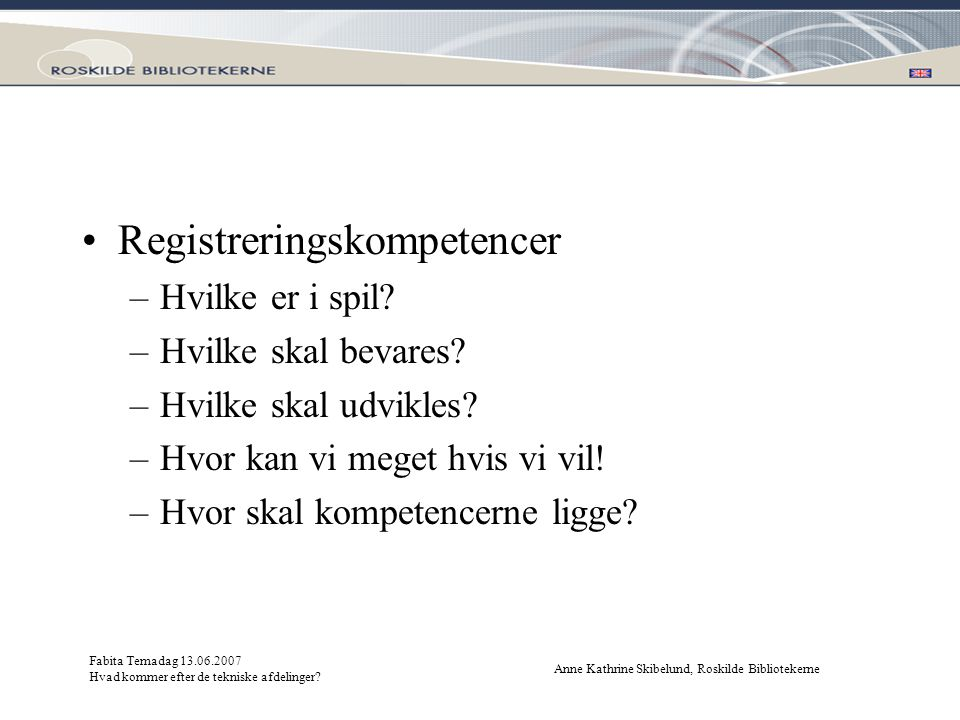Registreringskompetencer