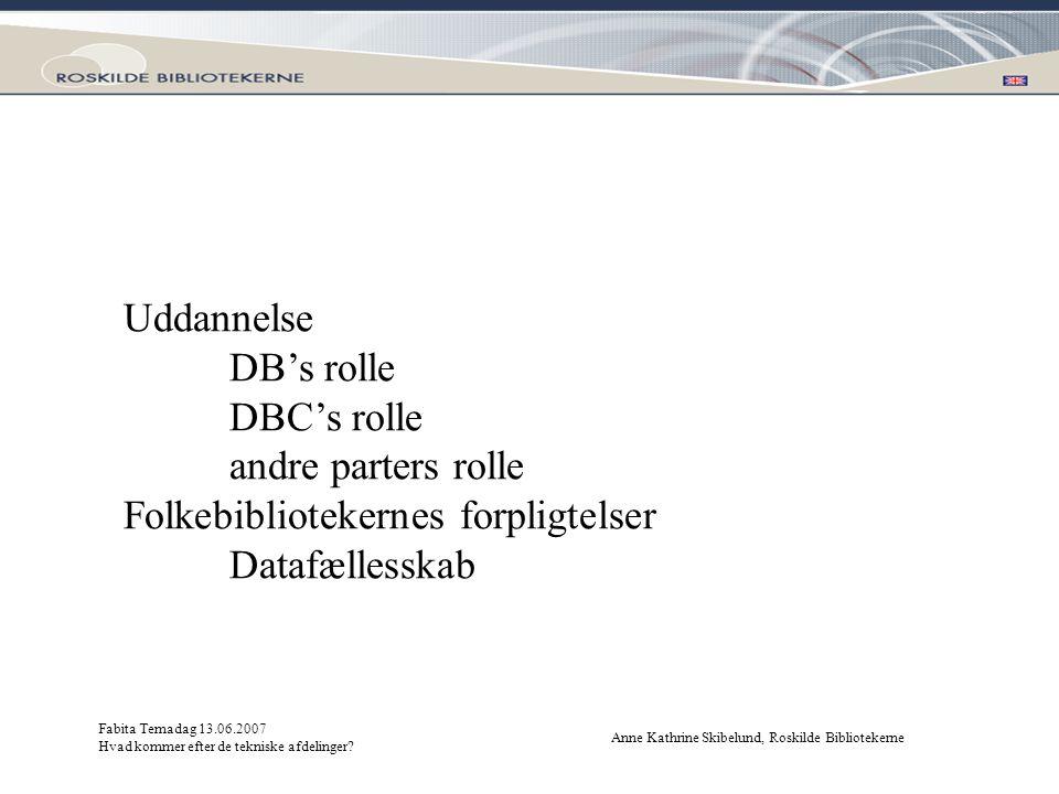 Folkebibliotekernes forpligtelser Datafællesskab