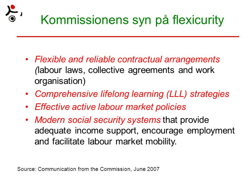 Kommissionens syn på flexicurity
