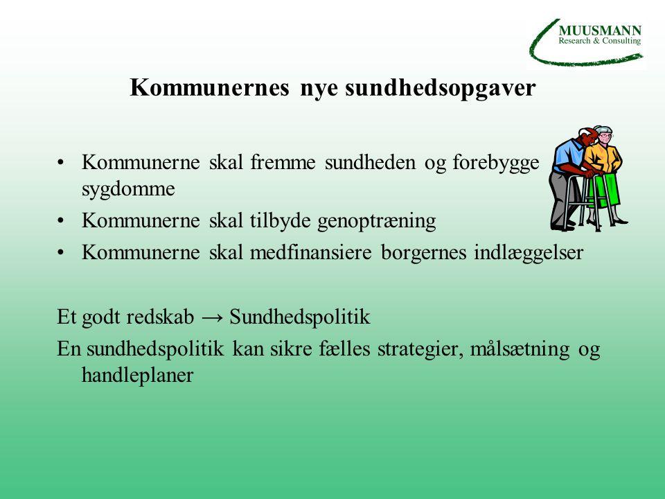 Kommunernes nye sundhedsopgaver