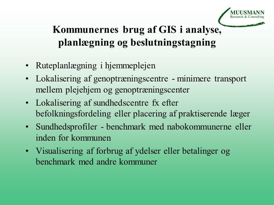 Kommunernes brug af GIS i analyse, planlægning og beslutningstagning