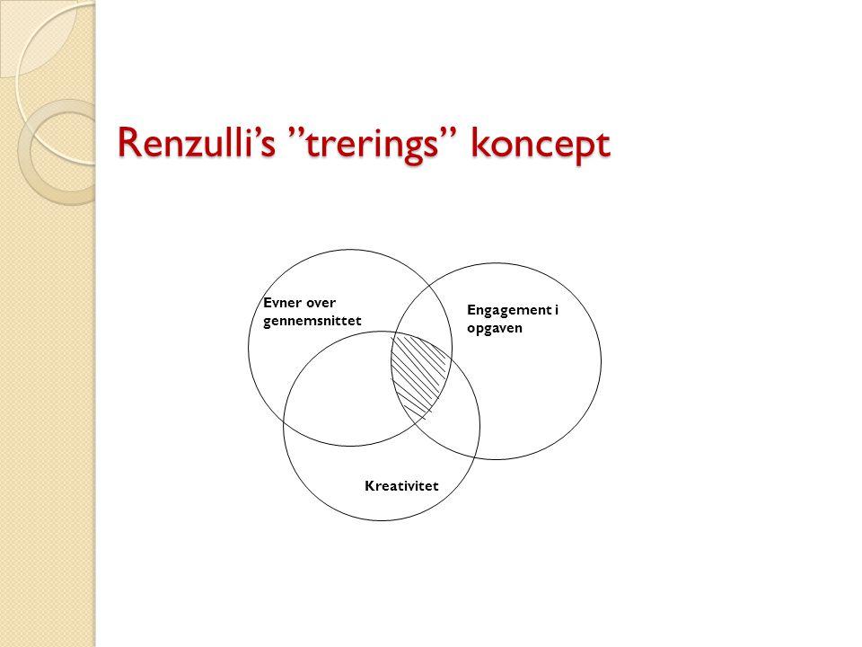 Renzulli's trerings koncept