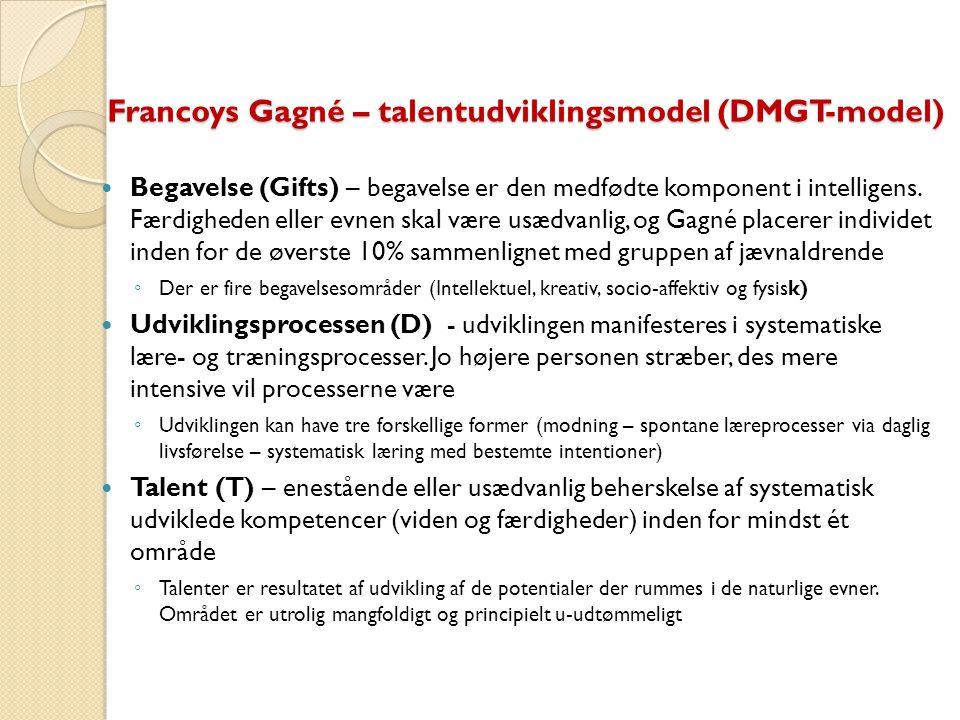 Francoys Gagné – talentudviklingsmodel (DMGT-model)