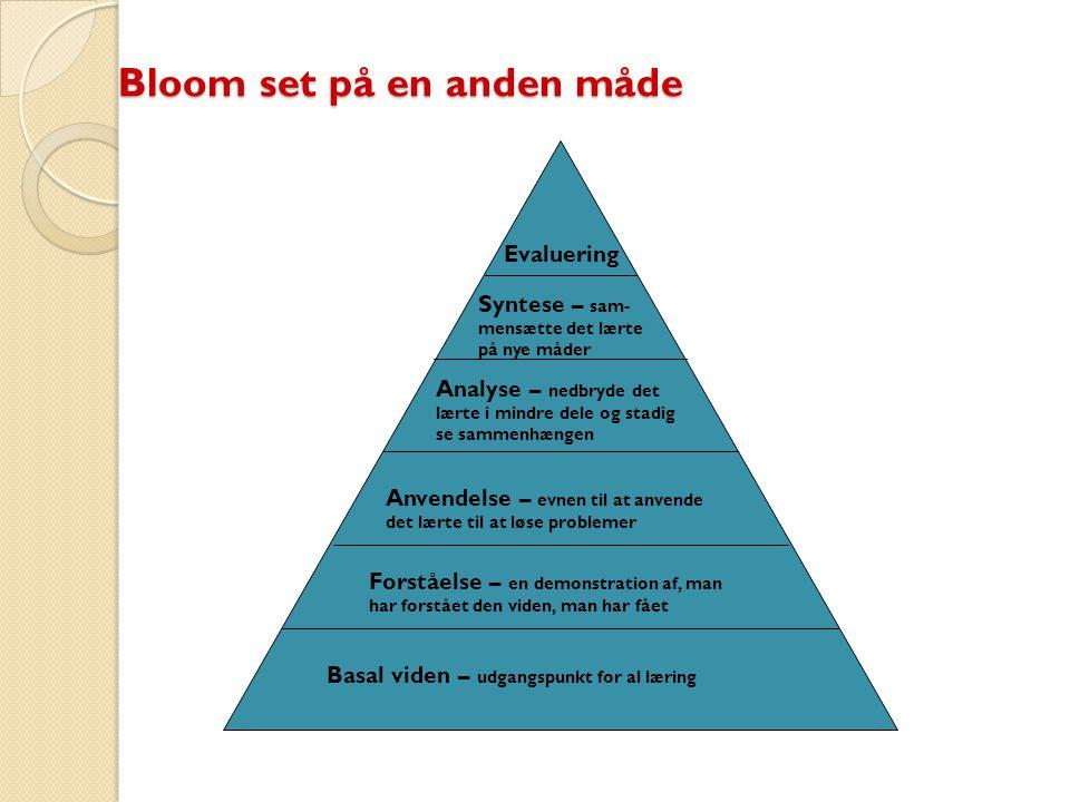 Bloom set på en anden måde
