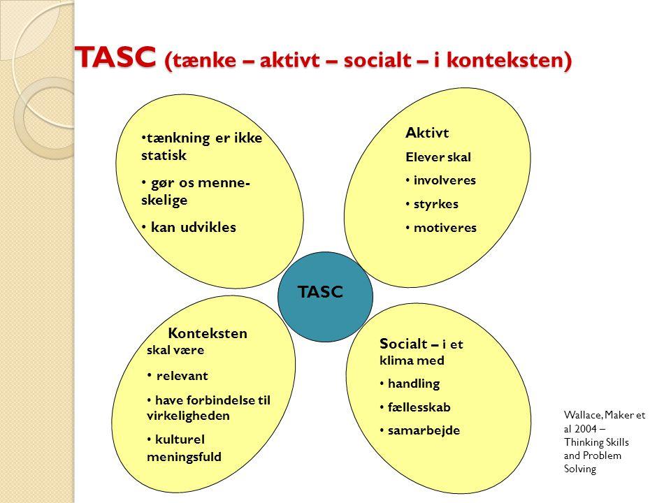 TASC (tænke – aktivt – socialt – i konteksten)