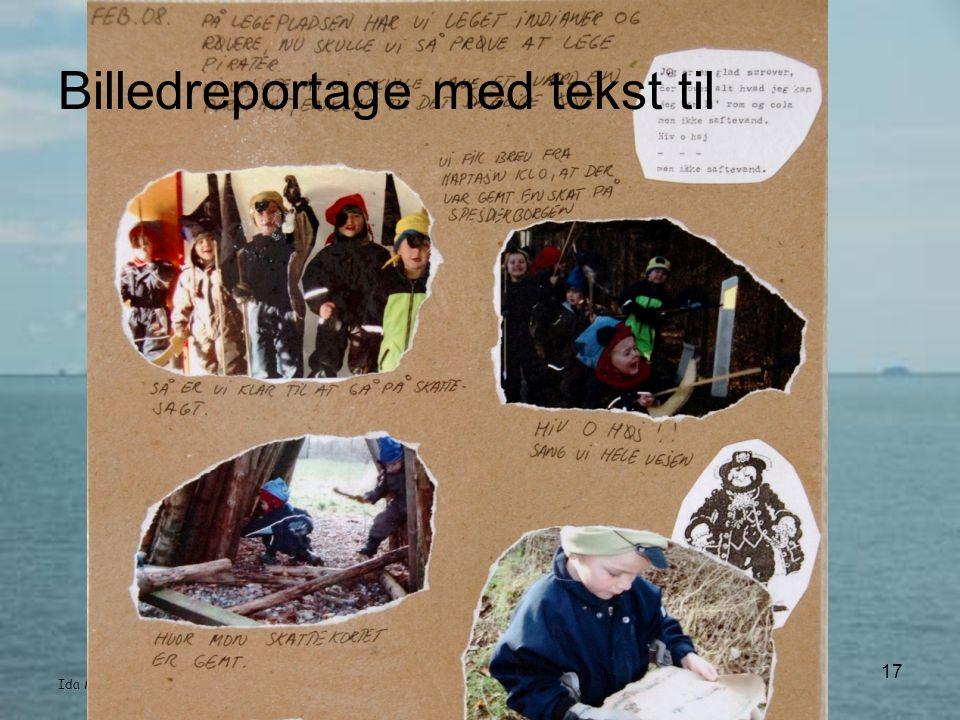Billedreportage med tekst til