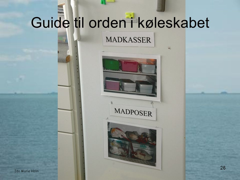 Guide til orden i køleskabet