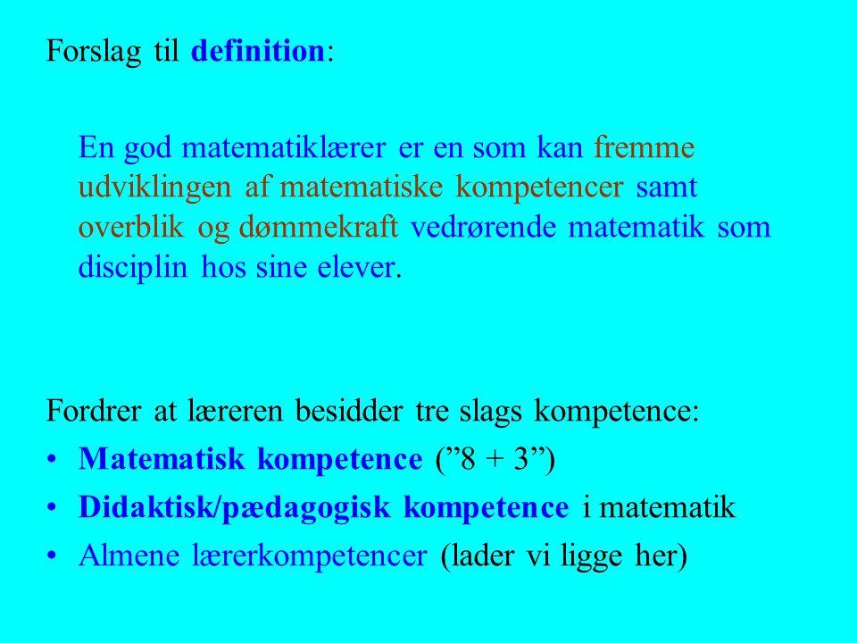 Forslag til definition: