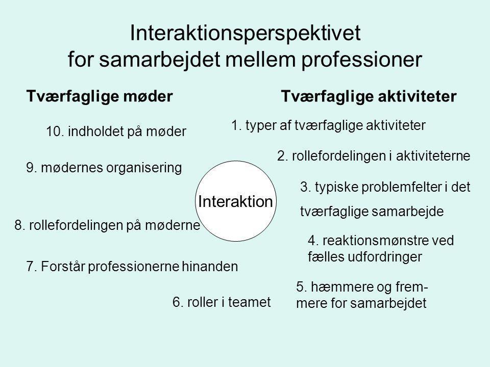 Interaktionsperspektivet for samarbejdet mellem professioner