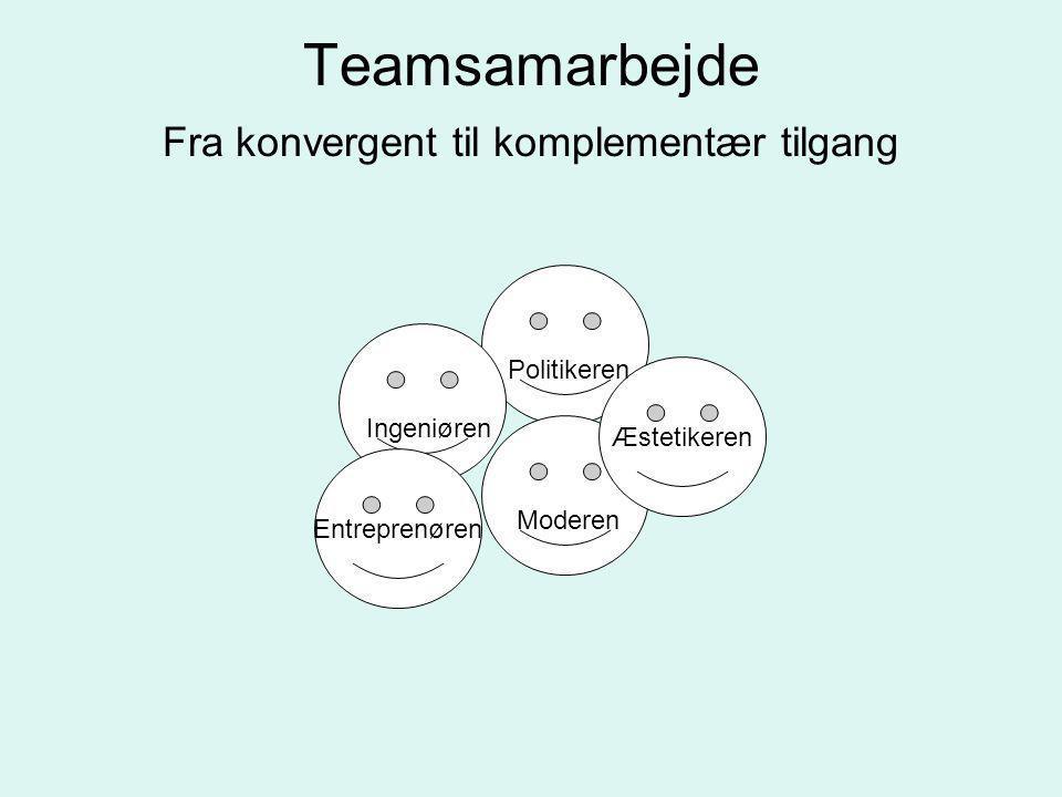 Teamsamarbejde Fra konvergent til komplementær tilgang