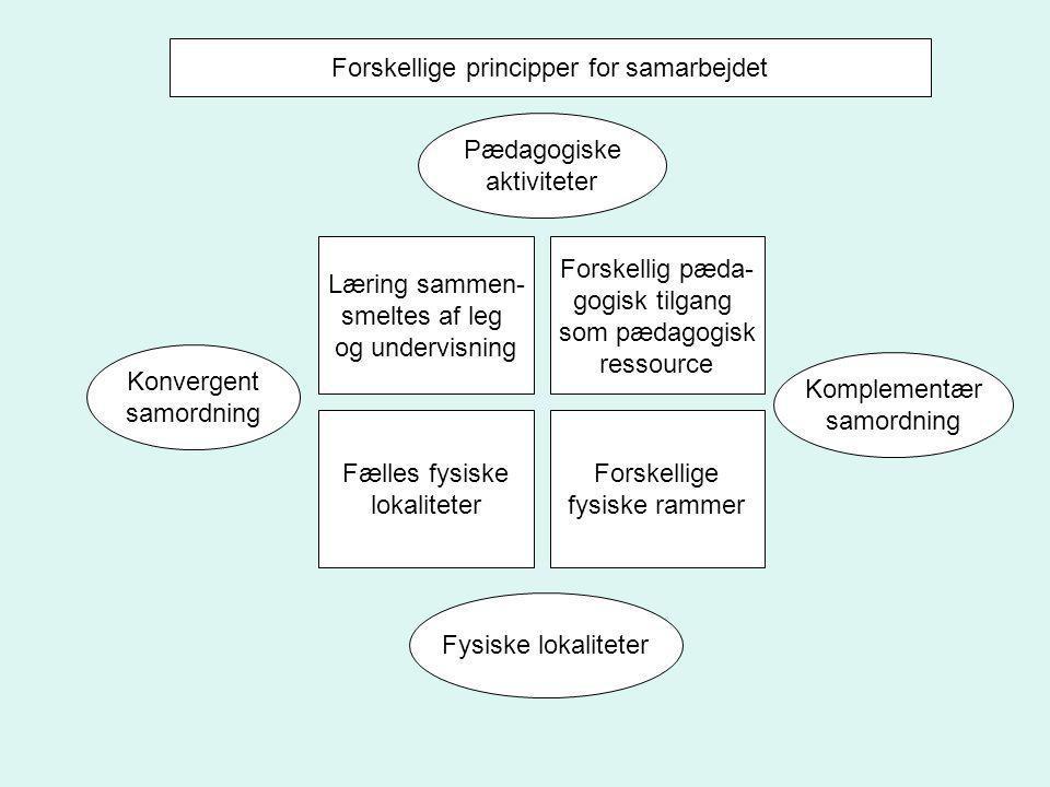 Forskellige principper for samarbejdet