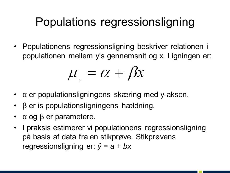 Populations regressionsligning