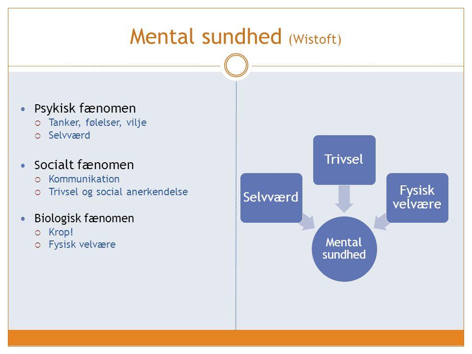 Mental sundhed (Wistoft)