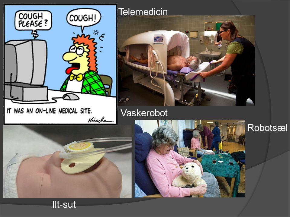 Telemedicin Vaskerobot Robotsæl Ilt-sut