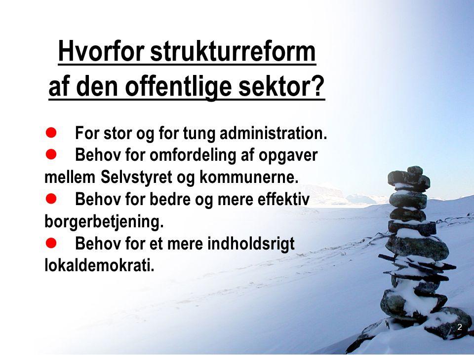 Hvorfor strukturreform af den offentlige sektor