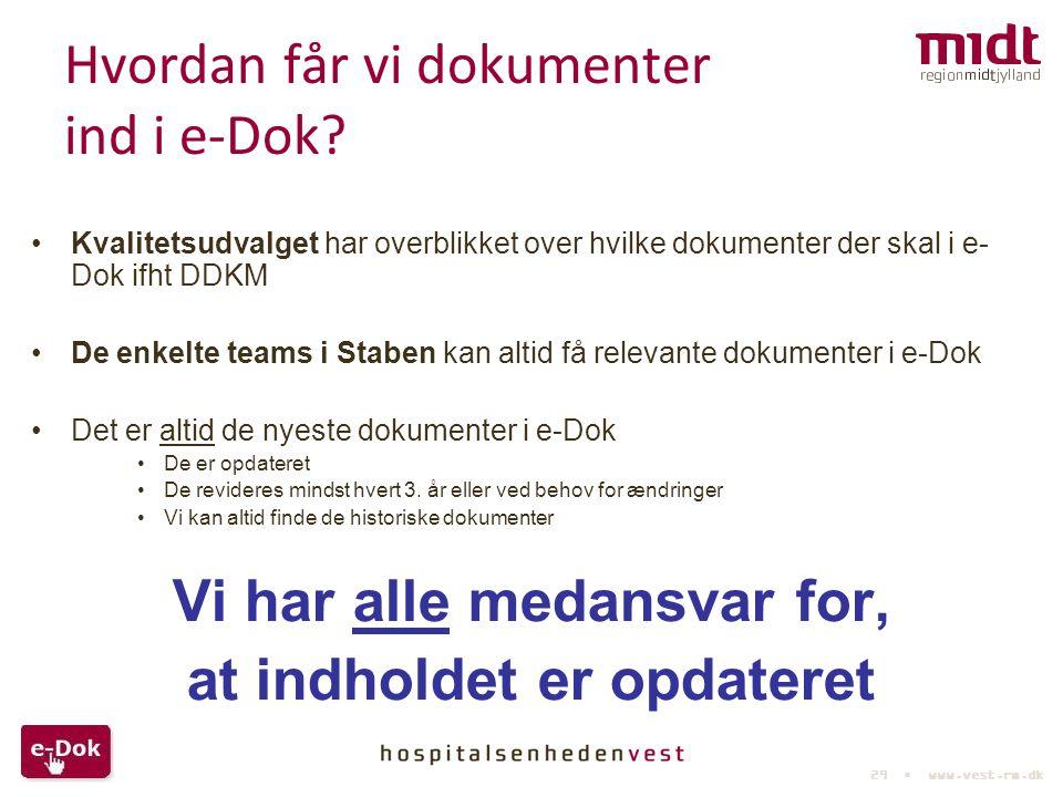 Hvordan får vi dokumenter ind i e-Dok