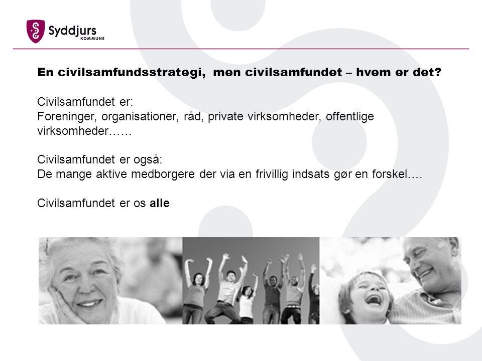En civilsamfundsstrategi, men civilsamfundet – hvem er det