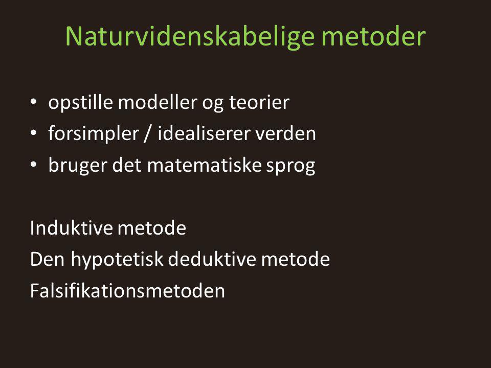 Naturvidenskabelige metoder