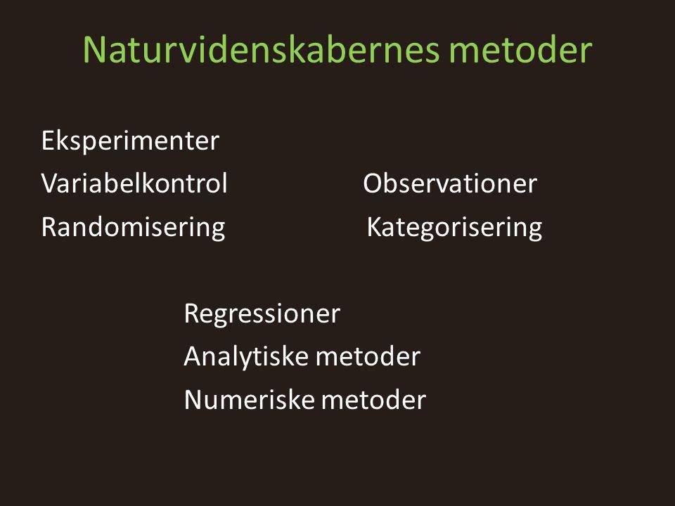 Naturvidenskabernes metoder