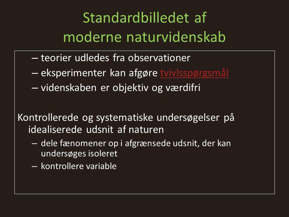 Standardbilledet af moderne naturvidenskab