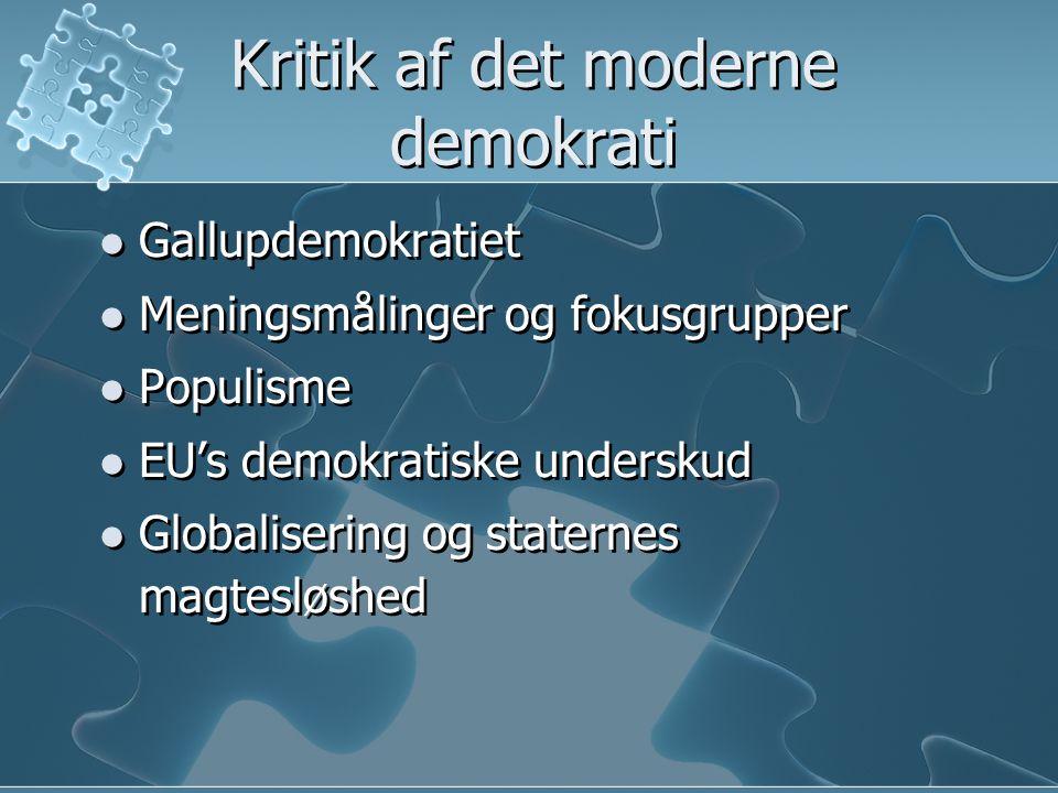 Kritik af det moderne demokrati