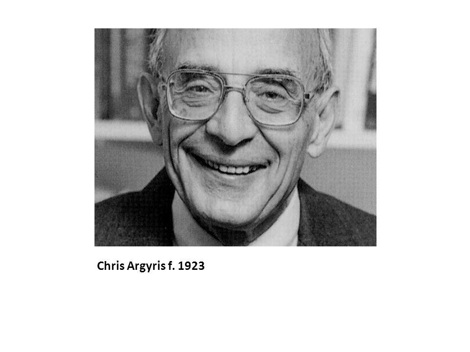 Chris Argyris f. 1923
