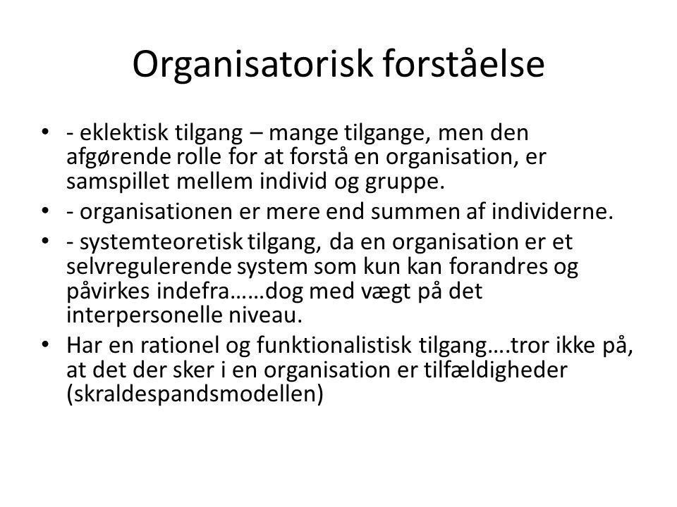 Organisatorisk forståelse