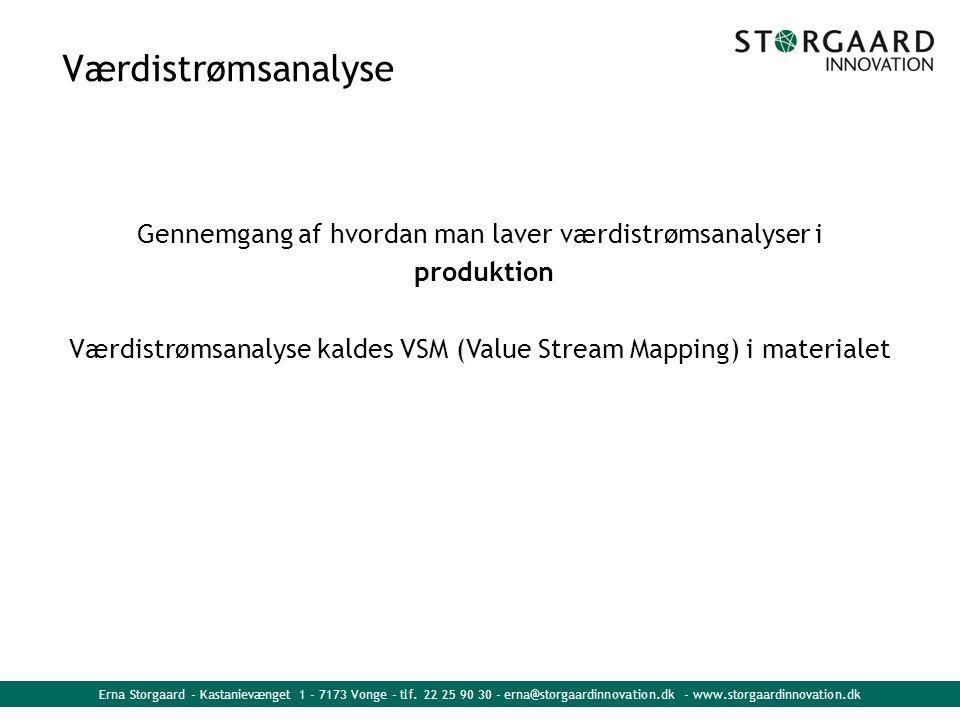 Værdistrømsanalyse