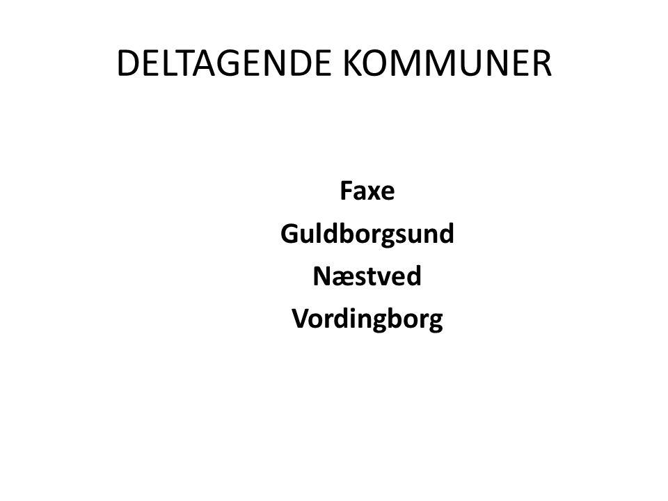 DELTAGENDE KOMMUNER Faxe Guldborgsund Næstved Vordingborg