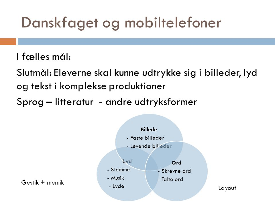 Danskfaget og mobiltelefoner