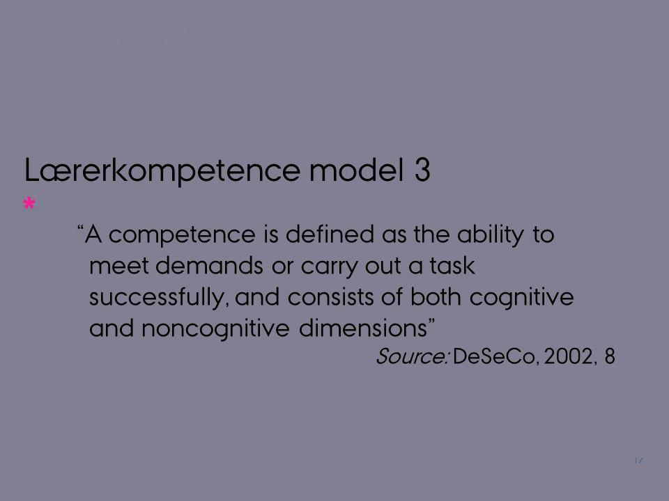 Lærerkompetence model 3
