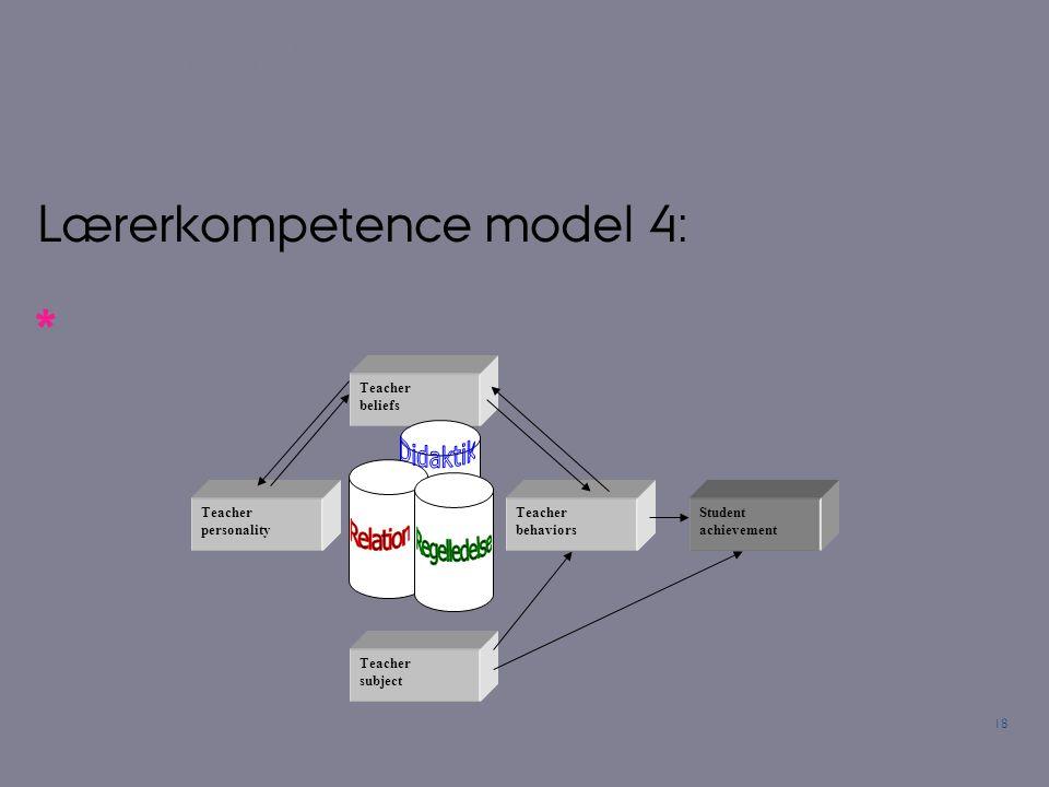 Lærerkompetence model 4: