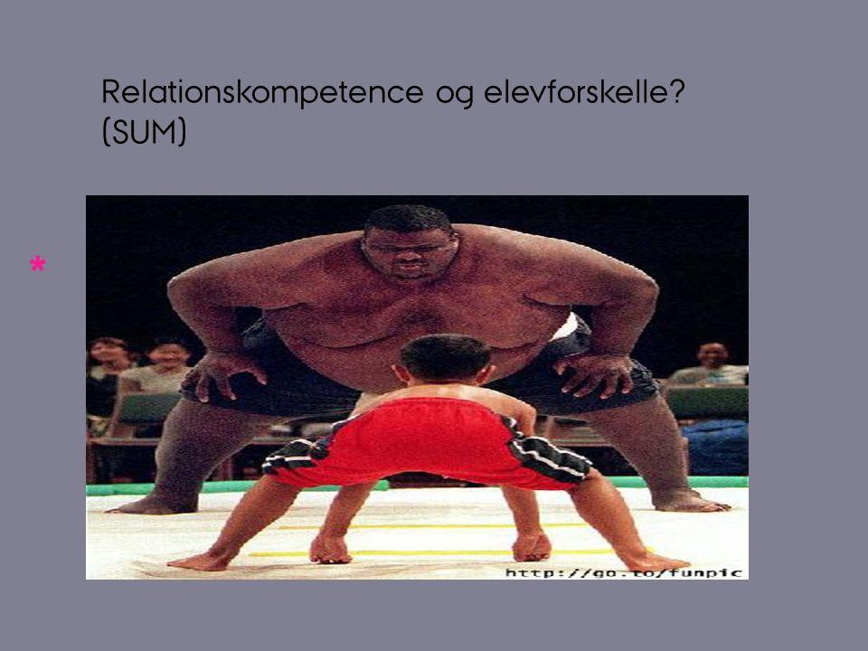 Relationskompetence og elevforskelle (SUM)