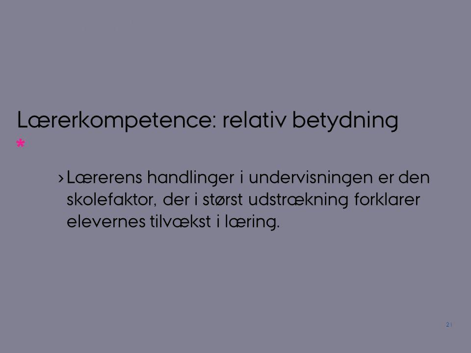 Lærerkompetence: relativ betydning