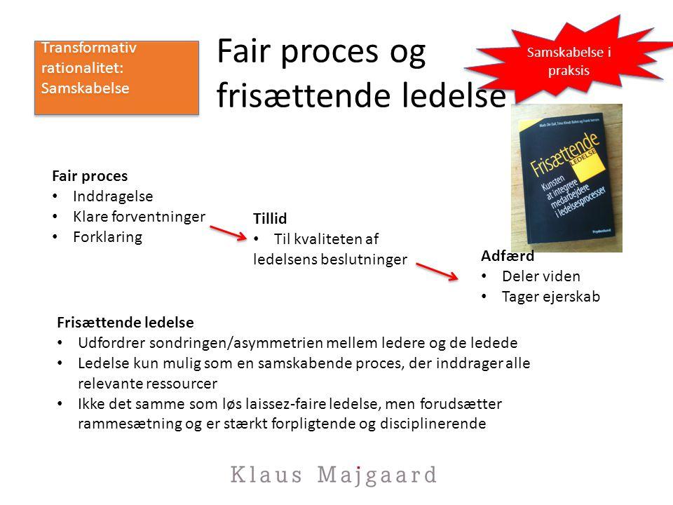 Fair proces og frisættende ledelse