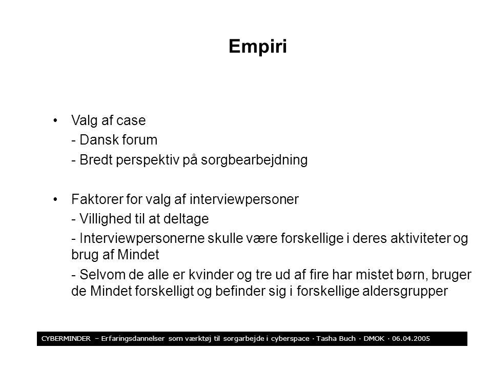 Empiri Valg af case - Dansk forum
