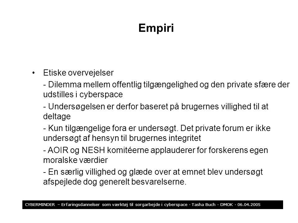 Empiri Etiske overvejelser