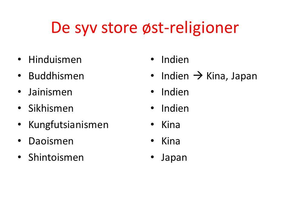 De syv store øst-religioner