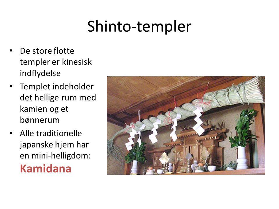Shinto-templer De store flotte templer er kinesisk indflydelse