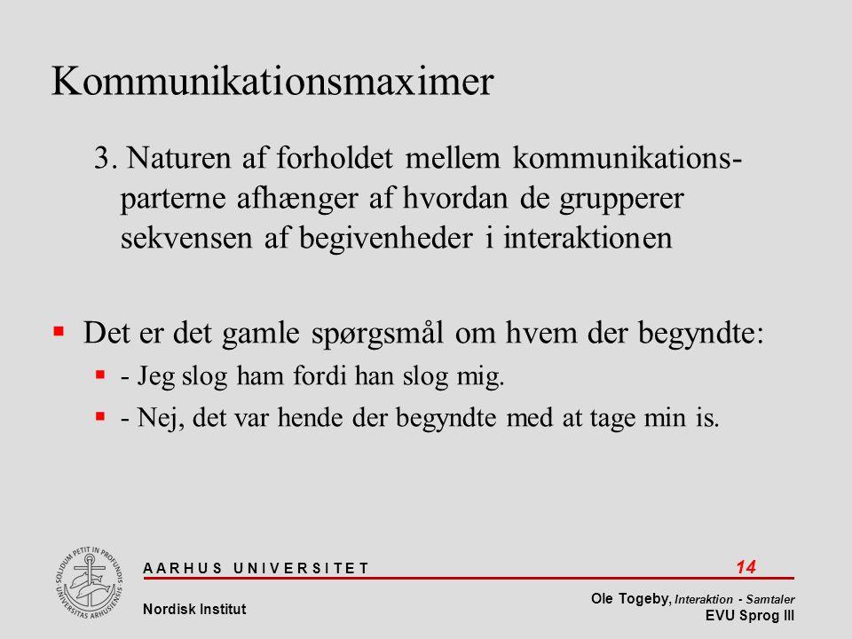 Kommunikationsmaximer