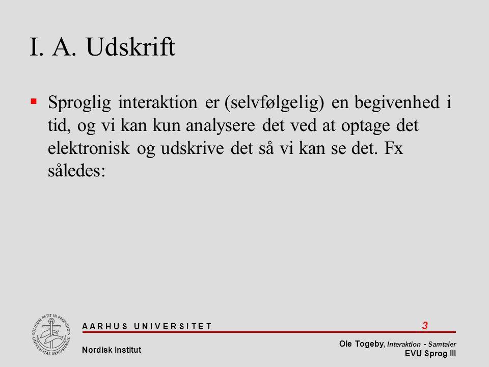 I. A. Udskrift