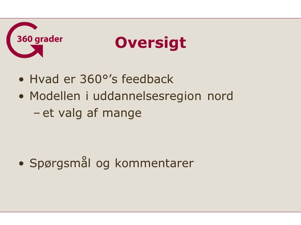 Oversigt Hvad er 360°'s feedback Modellen i uddannelsesregion nord