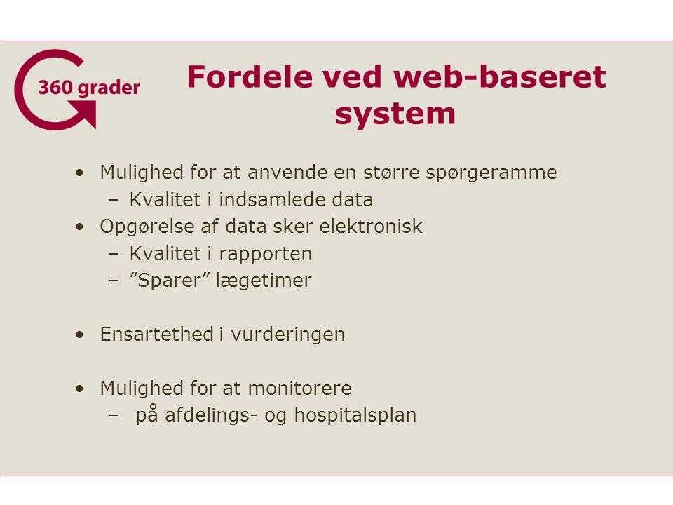 Fordele ved web-baseret system