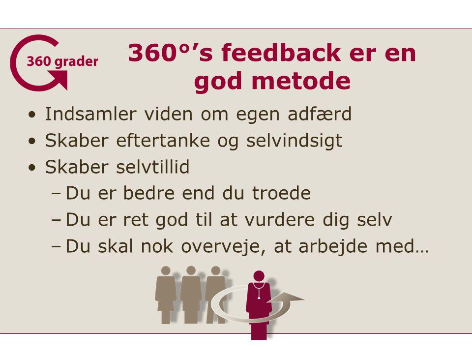 360°'s feedback er en god metode